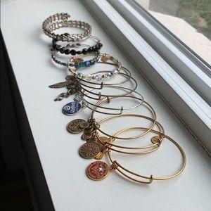 Stack of 10 Alex and Ani bracelets!